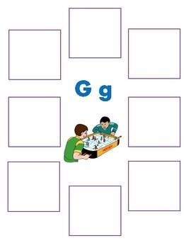 Initial g - Sorting Activity - File Folder Game