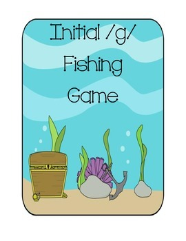 Speech Therapy: Initial /g/ words fishing game