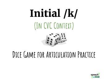 Initial /k/ Dice Game