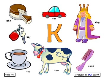 Initial k poster preschool speech therapy by something to talk about initial k poster preschool speech therapy sciox Images
