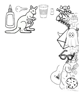 Initial /k/ and /g/ Coloring Page