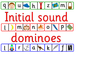 Initial letter sound dominoes - letters and sounds, phonics, EYFS- Alphabet