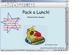 """Initial letter sounds sort - """"Pack a Lunch"""" Smart Board lesson"""