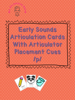 Initial /p/ Articulation Card Set With Visual Cues