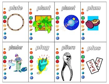 Initial /pl/ and final /s/ Planet card Game (in French and English)