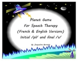 Initial /pl/ and final /s/ Planet card Game (in French and