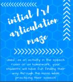 Initial /r/ Articulation Maze