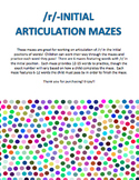 Initial /r/ Articulation Mazes