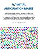 Initial /r/ Articulation Mazes