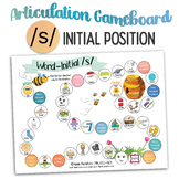 Initial /s/ Artic GAMEBOARD -  Articulation Speech Therapy