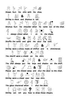 Initial /sh/ Picture Sentences