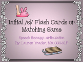 Initial /sl/ blends Flashcards or Memory Game