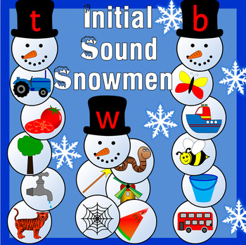 Initial sound Winter snowmen activity- Phonics
