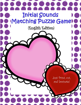 Initial sound matching Puzzle game (English Edition)