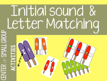 Initial sound, uppercase and Lowercase letter match