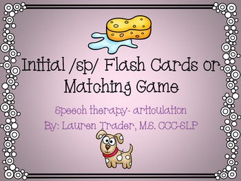 Initial /sp/ blends Flashcards or Memory Game