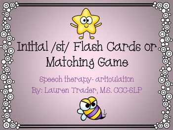 Initial /st/ blends Flashcards or Memory Game
