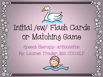 Initial /sw/ blends Flashcards or Memory Game