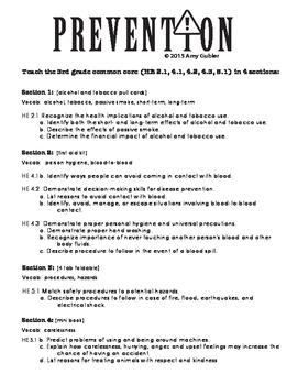 Injury and Disease Prevention Common Core Lapbook - Safety