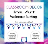 Ink Art - Classroom Bunting - Welcome Sign - Decor