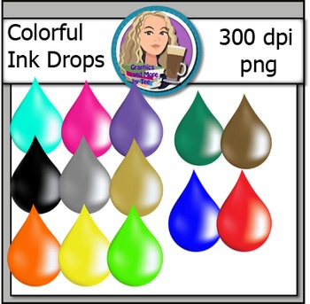 Colorful Ink Drop Clipart