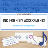 Ink-Friendly Assessment Bundle for Elementary Music