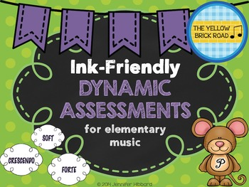Ink-Friendly Dynamic Assessments for Elementary Music