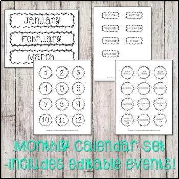 Ink Friendly Farmhouse Calendar Set