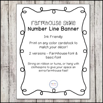 Ink Friendly Farmhouse Number Line Banner