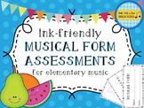 Ink-Friendly Musical Form Assessments