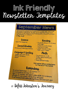 Ink Friendly Newsletter Templates