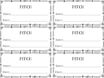Ink-Friendly Pitch Assessments for Elementary Music