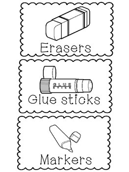 Ink Saver: Classroom Supply Labels