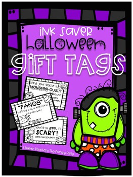 Ink Saver Halloween Gift Tags