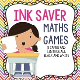 Ink Saver Math Games and Centres