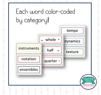 Ink-Saver Music Word Wall