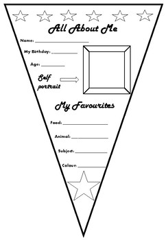 Ink Saver Pennant - All About Me - Star Theme - UK version