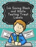 Ink Saving Black and White Testing Treat Labels