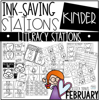 Ink Saving Stations - Literacy - FEBRUARY - Kindergarten