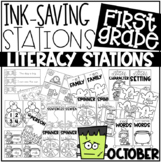 Ink Saving Stations - Literacy - OCTOBER - 1st Grade
