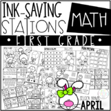 Ink Saving Stations - Math - 1st Grade - APRIL