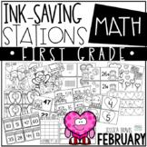 Ink Saving Stations - Math - 1st Grade - FEBRUARY