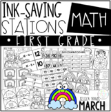 Ink Saving Stations - Math - 1st Grade - MARCH
