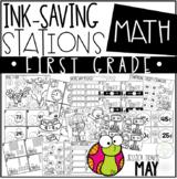 Ink Saving Stations - Math - 1st Grade - MAY