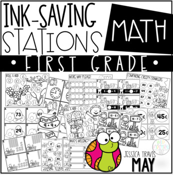 Ink Saving Stations - Math - 1st Grade - MAY
