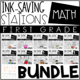 Ink Saving Stations - Math - 1st Grade - THE BUNDLE