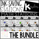 Ink Saving Stations - Math - Kindergarten - THE BUNDLE