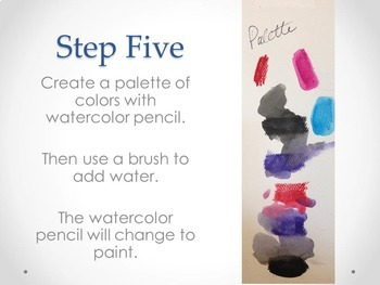 Ink and Watercolor Name Tag - Back to School Activity