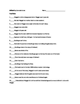 Inkheart by Cornelia Funke Tests and Activities