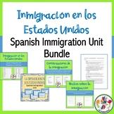 Inmigración en los Estados Unidos Spanish Immigration Unit Bundle